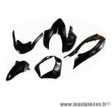 Kit carrosserie (8 pièces) Tun'r noir pour maxi scooter pcx 125