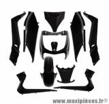 Kit carrosserie (11 pièces) noir pour maxi scooter x-max / skycruiser 125 / 250 après 2010