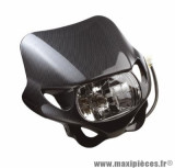 Tête de fourche finition carbone avec optique rectangulaire pour moto, 50 a boite, cyclomoteur