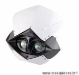 Tête de fourche Tun'r evo blanc / noir double optique pour moto, 50 a boite, cyclomoteur