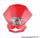 Tête de fourche blaster (12v35w) rouge pour moto, 50 a boite, cyclomoteur