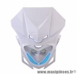 Tête de fourche Replay RR8 blanc avec leds bleu pour 50 a boite