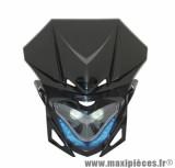 Tête de fourche Replay RR8 noir avec leds bleu pour 50 a boite