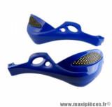 Protège main Tun'r grande taille bleu fixation 18mm pour moto cross