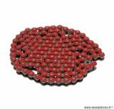 Chaine de moto Voca 420 renforcée 136 maillons couleur rouge