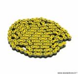 Chaine de moto Voca 420 renforcée 136 maillons couleur jaune