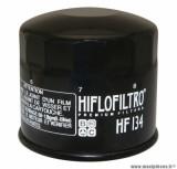 Filtre à huile Hiflofiltro HF134 (80x76mm) pièce pour Moto : SUZUKI 750 GSX-R 1985>1987, 1200 GV, 1400 GV