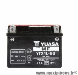 Batterie yuasa ytx4l-bs 12v-3a sans entretien piaggio 50 pièce pour Scooter, Mécaboite, Maxi Scooter, Moto, Quad