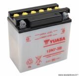 Batterie 12v 7 ah 12n7-3b yuasa avec entretien (lg135xl75xh133) pièce pour Scooter, Mécaboite, Maxi Scooter, Moto, Quad *prix spécial !