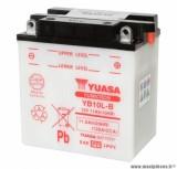 Batterie 12v 11 ah yb10l-b yuasa avec entretien (lg135x90x145) pièce pour Scooter, Mécaboite, Maxi Scooter, Moto, Quad