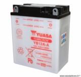 Batterie 12v 12ah yb12a-a yasa avec entretien (lg134x80x160) pièce pour Scooter, Mécaboite, Maxi Scooter, Moto, Quad