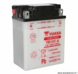 Batterie 12v 12ah yb12c-a yuasa avec entretien (lg134x80x175) pièce pour Scooter, Mécaboite, Maxi Scooter, Moto, Quad