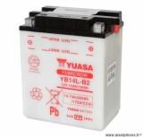 Batterie 12v 14ah yb14l-b2 yuasa avec entretien (lg134x89x166) pièce pour Scooter, Mécaboite, Maxi Scooter, Moto, Quad