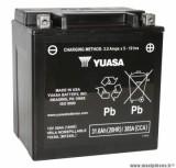 Batterie 12v 30ah yix30l yuasa sans entretien gel pret a l'emploi (lg166x126x175) pièce pour Scooter, Mécaboite, Maxi Scooter, Moto, Quad