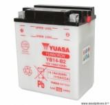 Batterie 12v 14ah yb14-b2 yuasa avec entretien (lg134xl89xh166) pièce pour Scooter, Mécaboite, Maxi Scooter, Moto, Quad