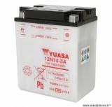 Batterie 12v 14ah 12n14-3a yuasa avec entretien (lg134xl89xh166) pièce pour Scooter, Mécaboite, Maxi Scooter, Moto, Quad