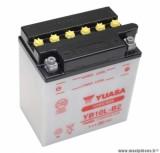 Batterie 12v 11 ah yb10l-b2 yuasa avec entretien (lg135xl90xh145) pièce pour Scooter, Mécaboite, Maxi Scooter, Moto, Quad