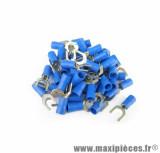 Boite de 50 cosses fourches diam6 1,5-2.5mm2 bleu