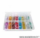 Coffret d'assortiment de 240 fusibles plats / micro fusibles