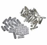 Cosse electrique ronde male 3,5 avec isolant (sachet de 25 pieces) pièce pour Scooter, Mécaboite, Mobylette, Maxi Scooter, Moto, Quad