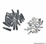 Cosse electrique ronde femelle 3,5 avec isolant (sachet de 25 pieces) pièce pour Scooter, Mécaboite, Mobylette, Maxi Scooter, Moto, Quad