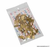 Cosse electrique male 6.3x1 rm 7840 laiton (vendu au sachet de 50 pieces) pièce pour Scooter, Mécaboite, Mobylette, Maxi Scooter, Moto, Quad