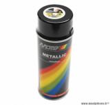 Bombe peinture motip acrylique noir métal (400ml)