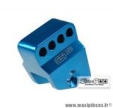 Réhausseur d'amortisseur «SSP» Stage 6 couleur bleu anodisé pour Piaggio NRG / Runner