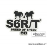 Sticker / Autocollant Stage 6 R/T « Breed of Speed » couleur noir 9,1x6,5cm