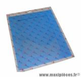 Grille protection décoration bleu anodise (29x35)
