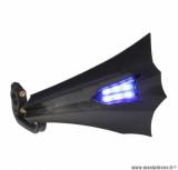 Paire de protège-mains Replay xrun noir avec leds bleu (6 leds) pour scooter