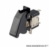 Interrupteur de sécurité / coupe circuit universel loquet noir avec led rouge