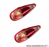 Feu décoratif Tun'r goutte d'eau micro clips éclairage orange / rouge