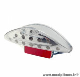 Feu arrière neon Tun'r à leds avec éclairage plaque pour scooter nitro / magnum / oliver / keeway
