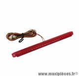 Feu arrière universel Replay à leds barrette rouge (24 leds rouges) homologué CE