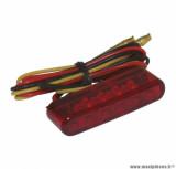 Feu arrière universel Replay à leds barrette rouge (8 leds rouges) homologué CE