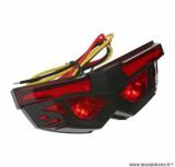 Feu arrière universel à leds mask rouge / noir 3 fonctions (feu arrière + stop + éclairage plaque) homologué CE *Prix spécial !