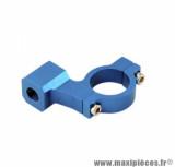 Collier rétroviseur Tun'r alu diamètre 8 bleu filetage pas a droite