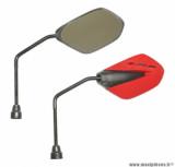 Paire de rétroviseurs Replay F40 noir / rouge (tige noir diamètre 8) pour scooter