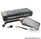 Rétroviseur F1 côté droit couleur Carbone Mat (diam. M8) marque Stage 6 * Prix Spécial !