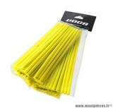 Kit couvre rayon avant arrière Voca Spokes couleur jaune fluo
