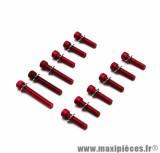Kit 12 vis de carter alu rouge 6x25 / 40 / 45 pour scooter mbk booster / yamaha bws