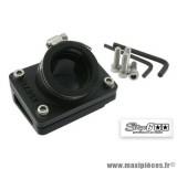Pipe + cale d'admission diamètre 28mm Stage 6 couleur noir pour Piaggio NRG / Typhoon