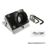 Pipe + cale d'admission diamètre 28-26mm Stage 6 couleur alu pour MBK Nitro / Aerox