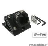Pipe + cale d'admission diamètre 28-26mm Stage 6 couleur noir pour MBK Nitro / Aerox