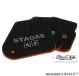 Mousse de filtre à air d'origine marque Stage 6 «Double Sponge» origine pour MBK Nitro / Ovetto