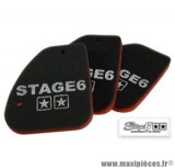 Mousse de filtre à air d'origine marque Stage 6 « Double Sponge » origine pour Peugeot Speedfight / Trekker