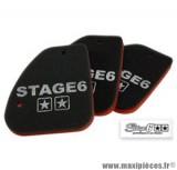 Mousse de filtre à air d'origine marque Stage 6 «Double Sponge» origine pour Peugeot Speedfight / Trekker