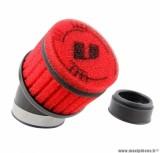 Filtre à air Voca Compétition Ø48mm pour carbu Keihin PWK couleur rouge