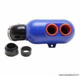 Filtre boite à air type karting Ø28/35/45mm bleu